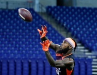 Fields leaves his mark at NFL Scouting Combine