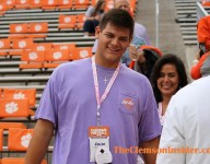 Clemson coach checks in on standout OL
