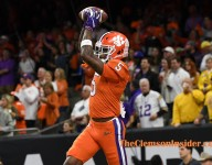 Higgins wills his way into end zone, extends Clemson lead