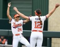 Clemson fans show their enthusiasm for softball
