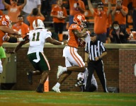 Clemson way ahead at half 'on paper'