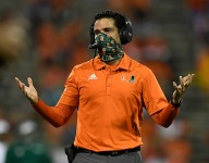 Hurricanes' coach says 'inches' separate Clemson and Miami