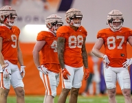 Freshmen tight ends showing out in spring practice