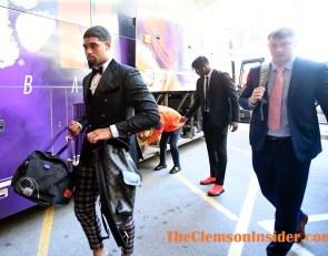 Photo Gallery: Clemson arrives at Carter-Finley Stadium