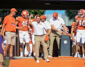 CFB show host says Swinney has made Clemson's pregame tradition 'all about himself'